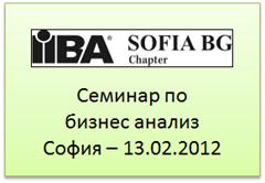 IIBA seminar - Sofia - 13.02.2012