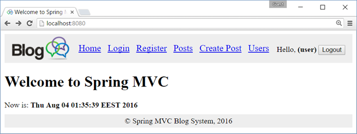 Creating A Blog System With Spring Mvc Thymeleaf Jpa And Mysql