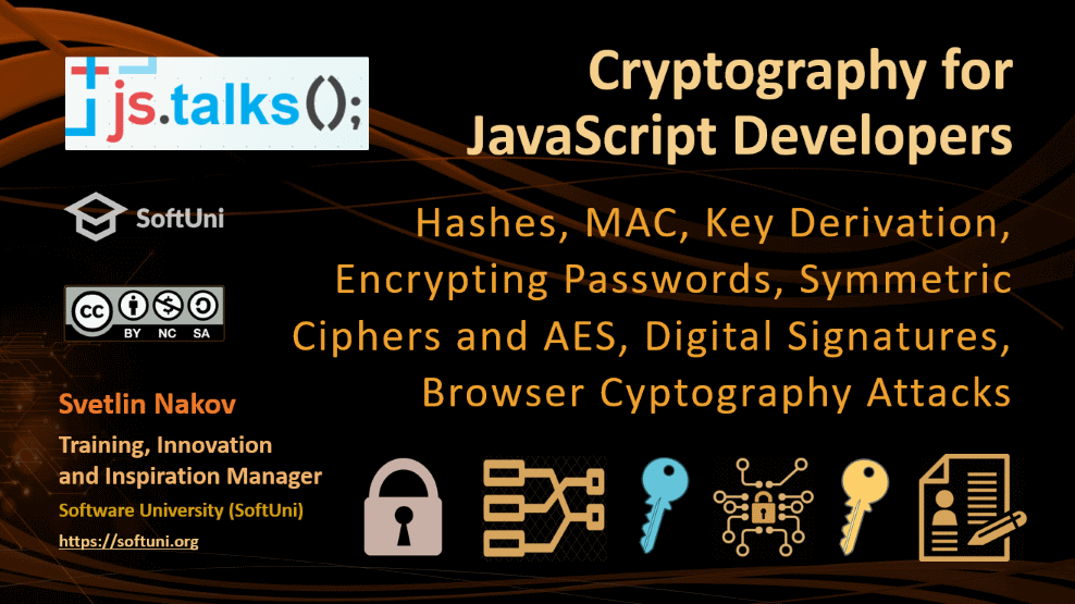 Cryptography for JavaScript Developers – Nakov @ JS Talks