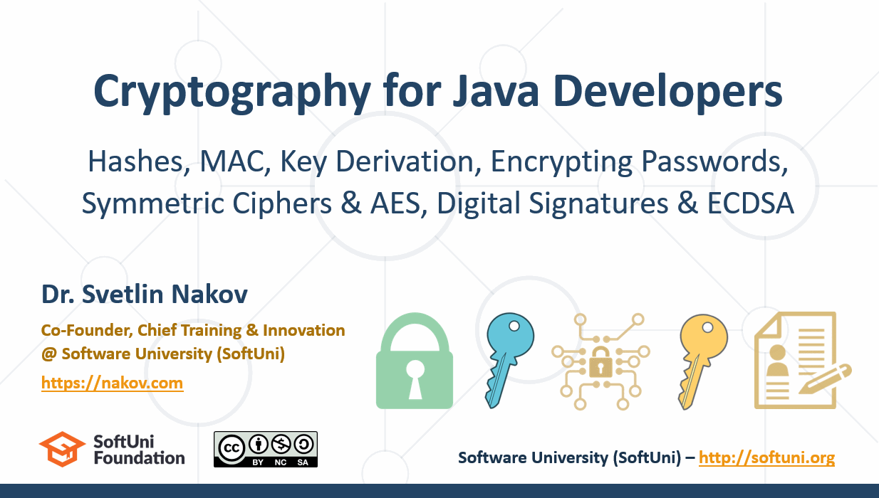 Cryptography for Java Developers – Nakov @ jProfessionals (Jan 2019